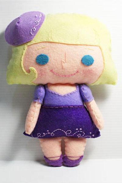 Vivian Girl - PDF Doll Pattern