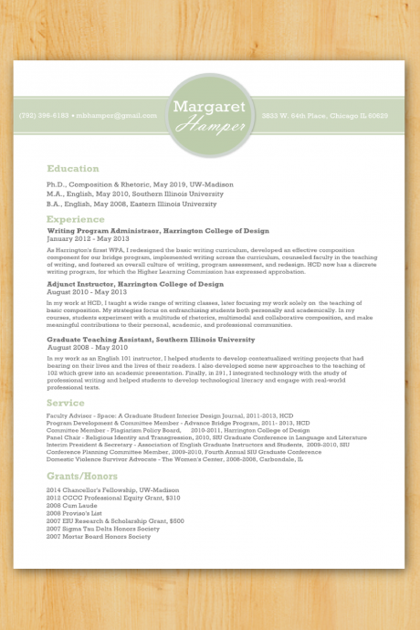 Custom Resume Writing & Design