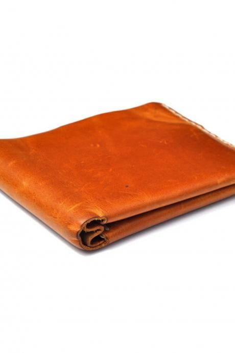Tan Leather Men's Wallet Slim Minimalist