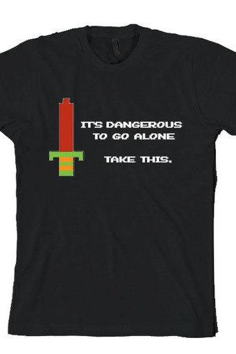 It's dangerous to go alone shirt funny tee S-3XL