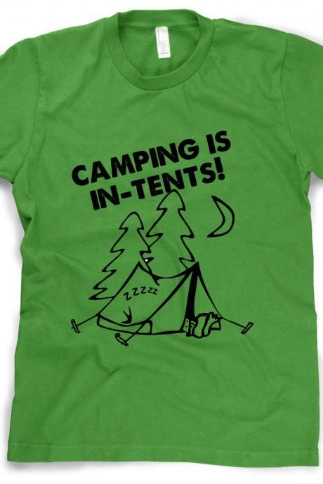 Camping shirt Camping is inTENTS t shirt S-4XL