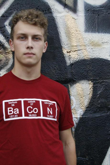 Chemistry bacon t shirt funny bacon shirt S-3XL