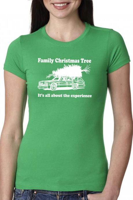 Womens funny christmas shirt xmas tree S-2XL