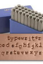Lowercase typewriter courier font - Metal Stamp Set