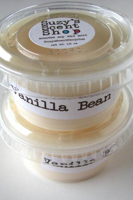 Vanilla Bean Scented Soy Wax Melt Single