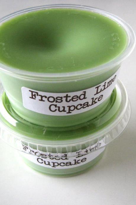 Frosted Lime Cupcake Scented Soy Wax Melt 2 pack
