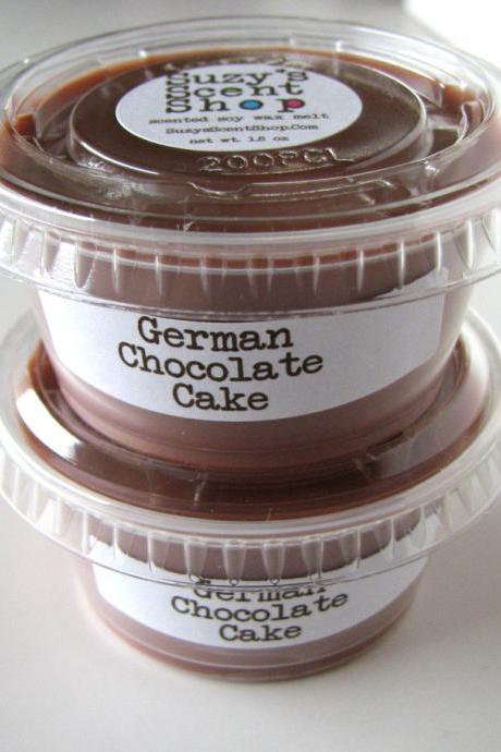 German Chocolate Cake Scented Soy Wax Melt 2 Pack
