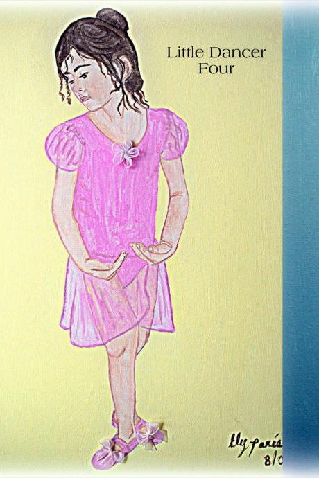 Set of 4 8 x 10 prints of Little Dancers