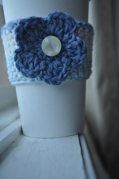 Coffee Cozy with Flower