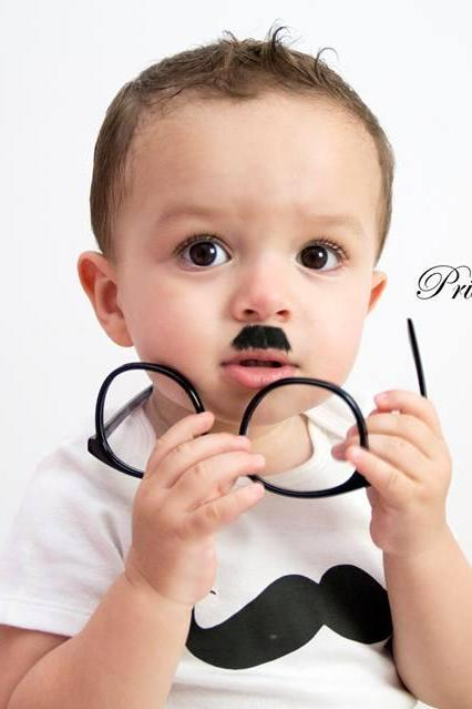 Iron on transfer mustache onesie