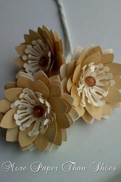 Handmade Paper Flower Stems - DIY - Bouquets - Wedding- Home Decor - Customize