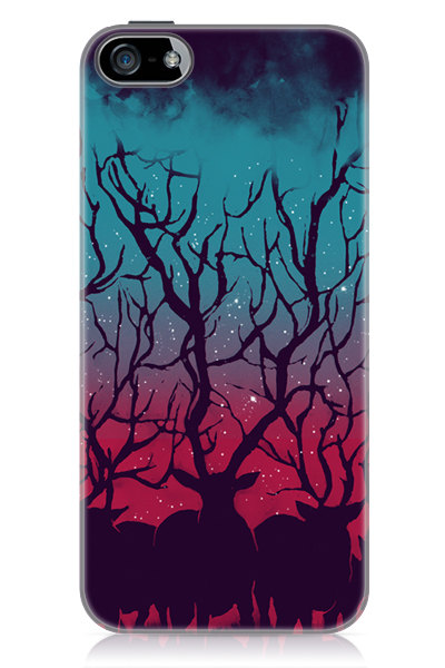 Deer Forest iPhone 5 Glossy Hard Case