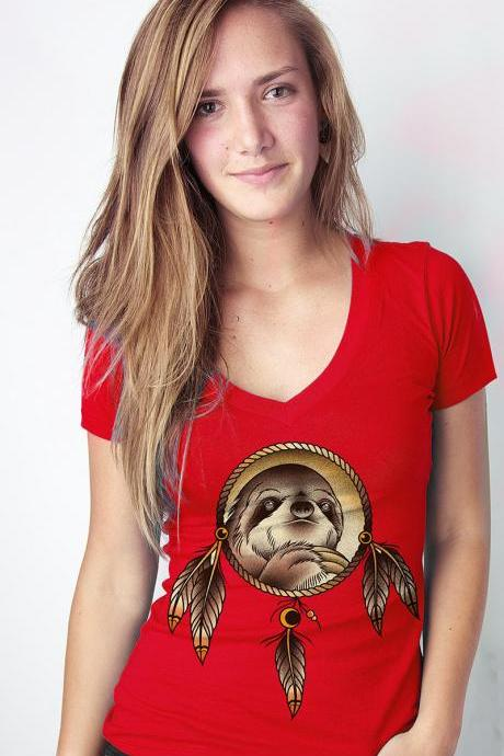 Spirit Sloth, sloth tshirt, slothzilla, dream catcher, Womens S-XL Available
