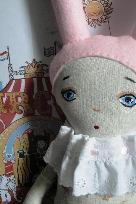 Vintage Circus inspired Bunny Doll