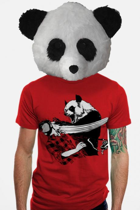Mens Tshirt Panda Bitchslap Animal Available S M L XL 2XL