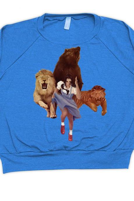 American Apparel, Sweater, Lion Tiger Bear OH Fxxx, Blue Pullover Available S-L