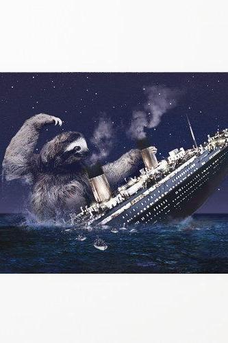 Sloth, Slothzilla, Titanic, 3-Pack of Stationary Cards with Matching Envelope