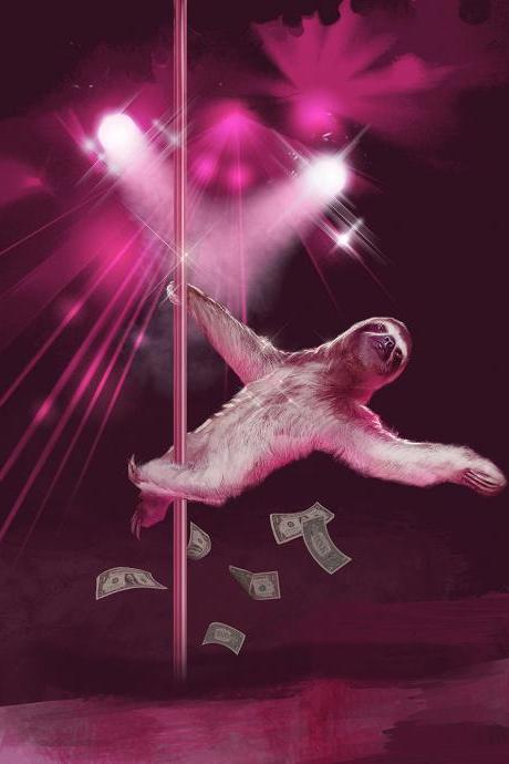 Stripper Sloth, Slothzilla, 3 Pack, Birthday Card, Greeting Cards, Matching envelopes included