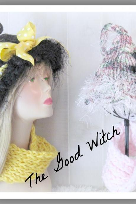 The Good Witch Hat and Cowl Knitted Pattern Child and Adult Sizes