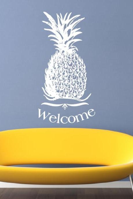 Wall Decal Pineapple Welcome Vinyl Wall Decal 22310