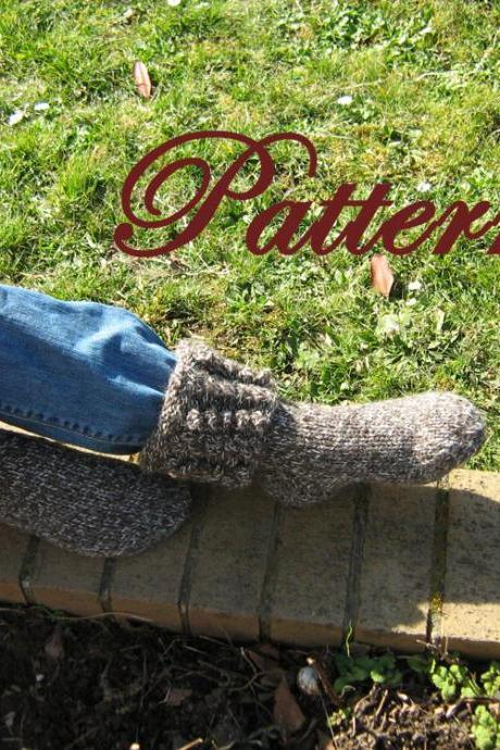 Cables and Bobbles, Woman's Aran Boot sock PATTERN