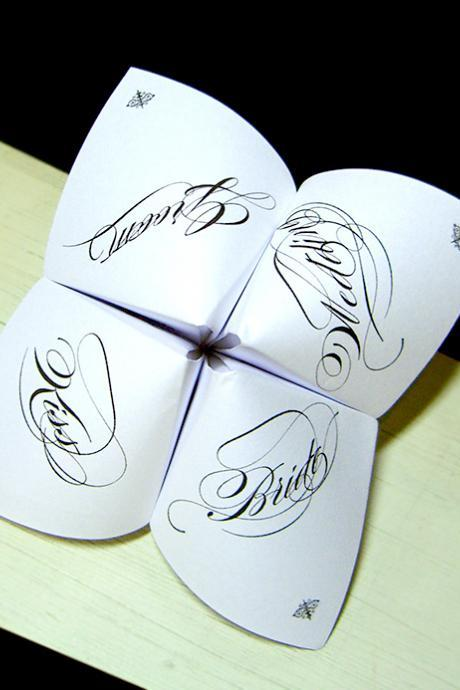 Wedding Cootie Catcher Party Favor - GENERIC