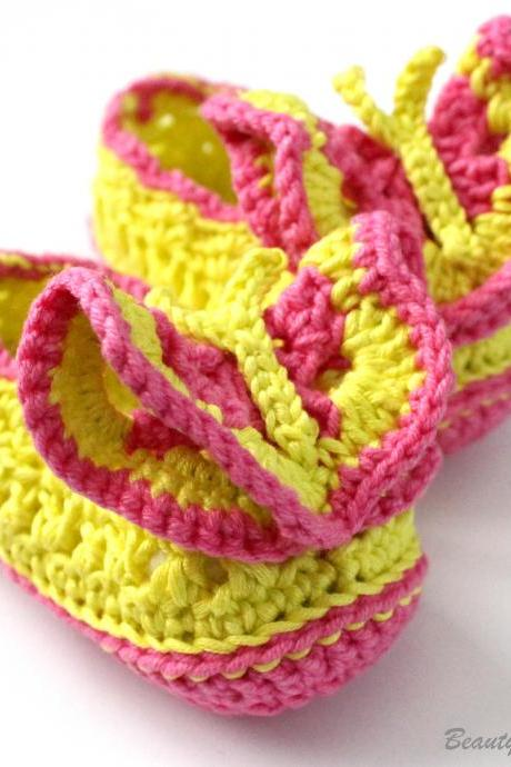 Butterfly Crochet Shoes Pattern
