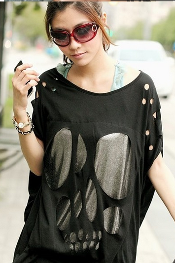 Bat shirt loose cloak Hip Hop T-Shirt