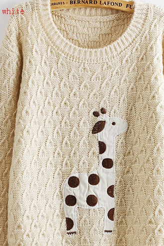 Lovely dots giraffe sweate