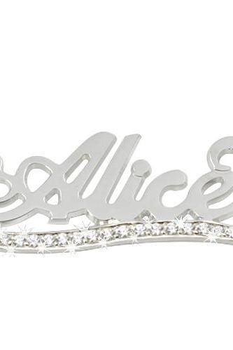 Sterling Silver Name Necklace with diamond underline