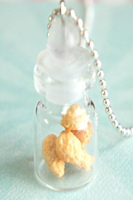 fried chicken in a jar necklace