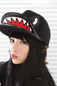 Hip-hop shark mouth cap baseball hat