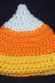Handmade Crochet Candy Corn Child Hat-Halloween
