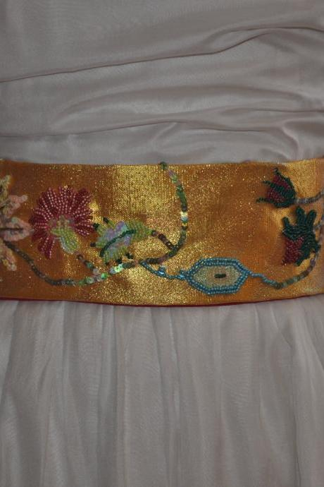 Sequin Beaded Sash - 18th Century Goes Gaudy