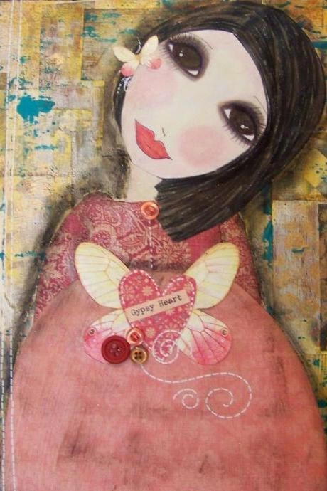 GYPSY HEART 5x7 art card