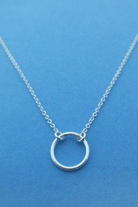 Tiny, Sterling Silver, Karma, Ring, Halo, Necklace