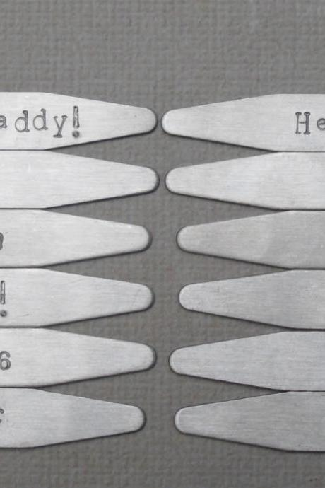 12 Personalized Collar Stay Sets Custom Groomsmen Gifts 12 Collar Stay sets Personalized and Gift Wrapped Stainless Steel Collar Stays