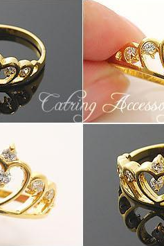 Golden Crown couple ring