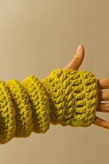 Crochet Women's Fingerless Gloves-Accessories-Wrist Warmers
