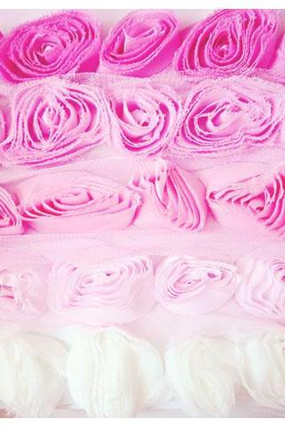 Shabby Chiffon Bloomer rose trim