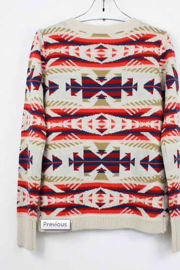 Beige Sweater with Geometric Pattern