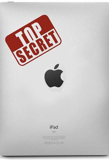 Top Secret decal for IPad - Stickers Macbook , Laptop, IPad Decals