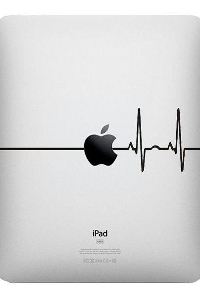 SALE IPad Heart Beat Line Apple - Stickers Macbook , Laptop, IPad Love Decals - Buy 2 get 1 Free