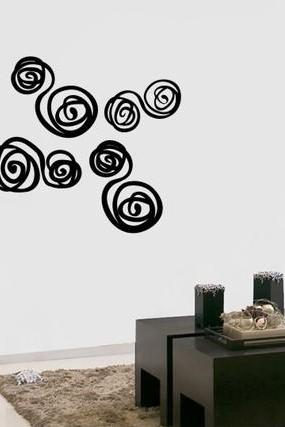 Roses Art Wallpaper Graffiti Wall Vinyl Sticker Decal RED ROSE flower
