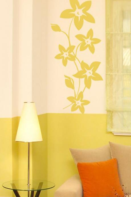 Wall Decal Bloom Flower Vinyl, Sticker Floral by Elly Studio