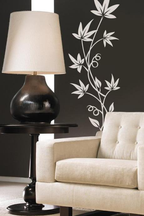 Art Flower Leaves Vinyl Wall Decal Sticker Floral Design Decor