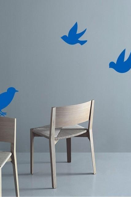 Buy 2 small decal get 1 Free -Three Blue LITTLE BIRD Home Art Decor Mural Wall Sticker Decal