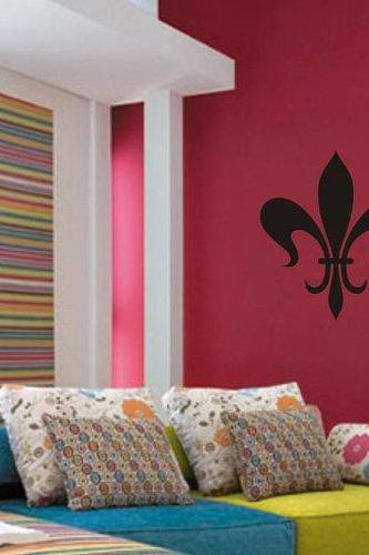 New Paris In Love French Fleur de Lis Decal Vinyl Wall Art Sticker Mural Tattoo