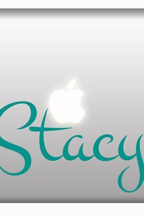 Personalized stickers for macbook and laptops vinyl decal custom name or phrase