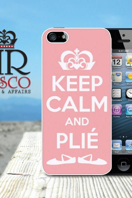 Keep Calm and Plie iPhone Case, Ballet iPhone Case, iPhone 5 Case, Pink iPhone Case (87)